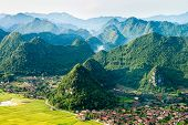 Aerial View Of Mountain Ranges In Vietnam