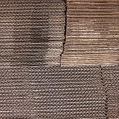 Cardboard stack background