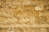 Yellow Stone Wall Texture Background