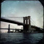 Instagram filtered image of The Brooklyn and Manhattan Bridge