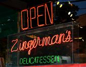 Neon Sign In Zingerman's Window