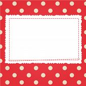 Scrap card with polka dot and frame