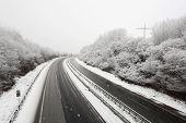 German Highway in Winter