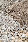 Pile Of Rock And Stone With Soil