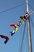 Flags On Ships Mast
