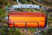 Orange Ropeway In Low Tatras, Slovakia