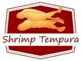 Ilustration of  a banner of shrimp tempura