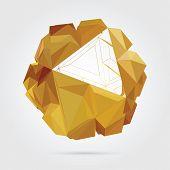 Abstract 3D geometric illustration.