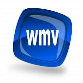 Icono azul de Wmv