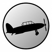 Retro Military Airplane Button