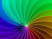 3d Colorful Rainbow Spectrum Background