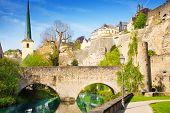 Abbey de Neumunster, Alzette river in Luxembourg