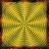 Yellow, Gold, Grunge Background. Abstract Vintage Texture With Frame And Border.