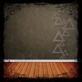 Brown, Gold Grunge Background. Abstract Vintage Texture With Frame And Border.