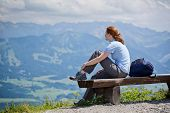 Rest From Hiking In The Alps