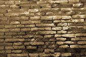 Background Of Old Broken  Brick Wall Texture