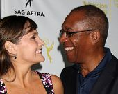 LOS ANGELES - AUG 12:  Nora Chavooshian, Joe Morton at the Dynamic & Diverse:  A 66th Emmy Awards Ce