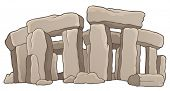 Ancient stone monument theme 1 - eps10 vector illustration.