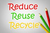 picture of reuse recycle  - Reduce Reuse Recycle Concept text background global - JPG