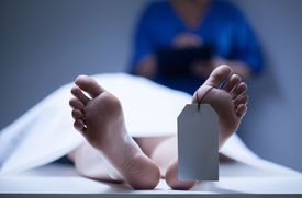 picture of morbid  - Horizontal view of identification of dead body - JPG