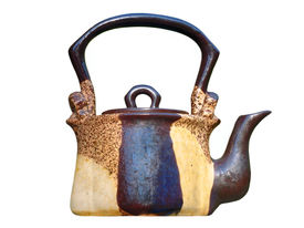 picture of loamy  - The photo of ceramic teapot isolated on white background - JPG