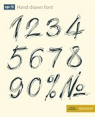 foto of arabic numerals  - Vector handwritten arabic numerals set - JPG