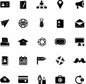 Contact Connection Icons On White Background