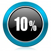 10 percent glossy icon sale sign