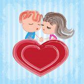 Couple on heart