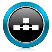 database glossy icon