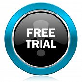 free trial glossy icon