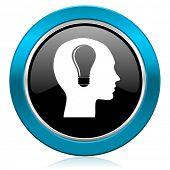 head glossy icon human head sign