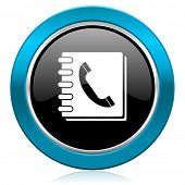 phonebook glossy icon