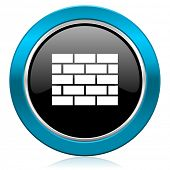 firewall glossy icon brick wall sign