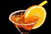 Orange Margareta Fresh Coctail Isolated On Black
