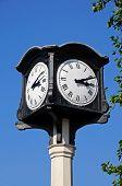 Ornate town clock, Stafford.