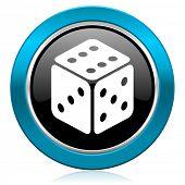 casino glossy icon hazard sign