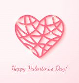 picture of applique  - Applique card with pink heart - JPG