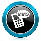 mms glossy icon phone sign
