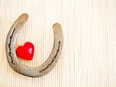 Horseshoe and heart