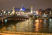 Nighttime Paris.