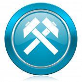 mining blue icon