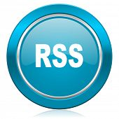 rss blue icon