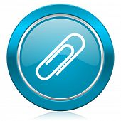 paperclip blue icon