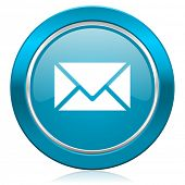 email blue icon post sign