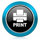 printer glossy icon print sign