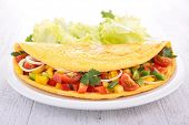 omelet and vegetables