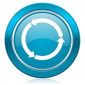 refresh blue icon reload blue icon