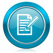 subscribe blue icon write sign