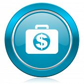 financial blue icon